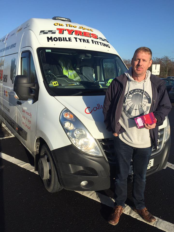 on the spot tyres mobile tyre replacement service kildare image of fergal hynes