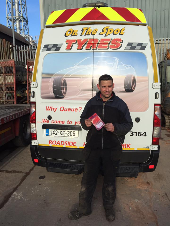 on the spot tyres kildare tyre service image of dan brien