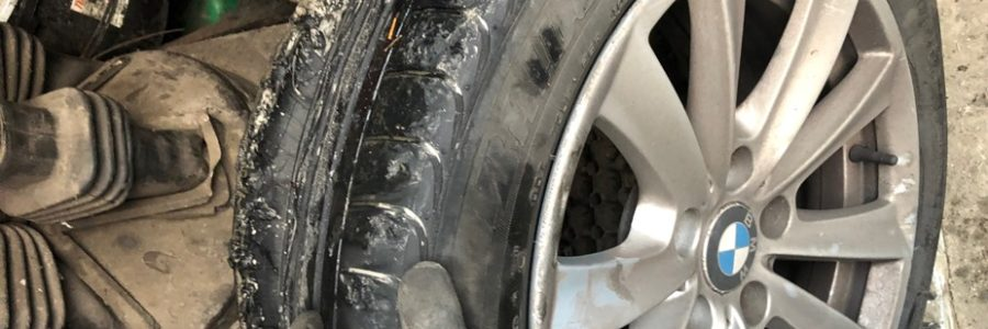 Run Flat Blowout in Blessington